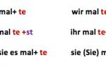 Präteritum, perfekt, plusquamperfekt: глаголы в прошедшем времени