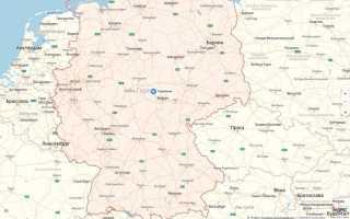 Карта административного деления германии на федеральные земли
