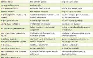 Путешествие на немецком языке
