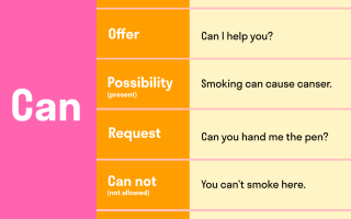 Правила употребления модальных глаголов can и could