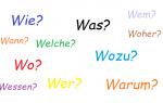 Вопросительные предложения в немецком языке