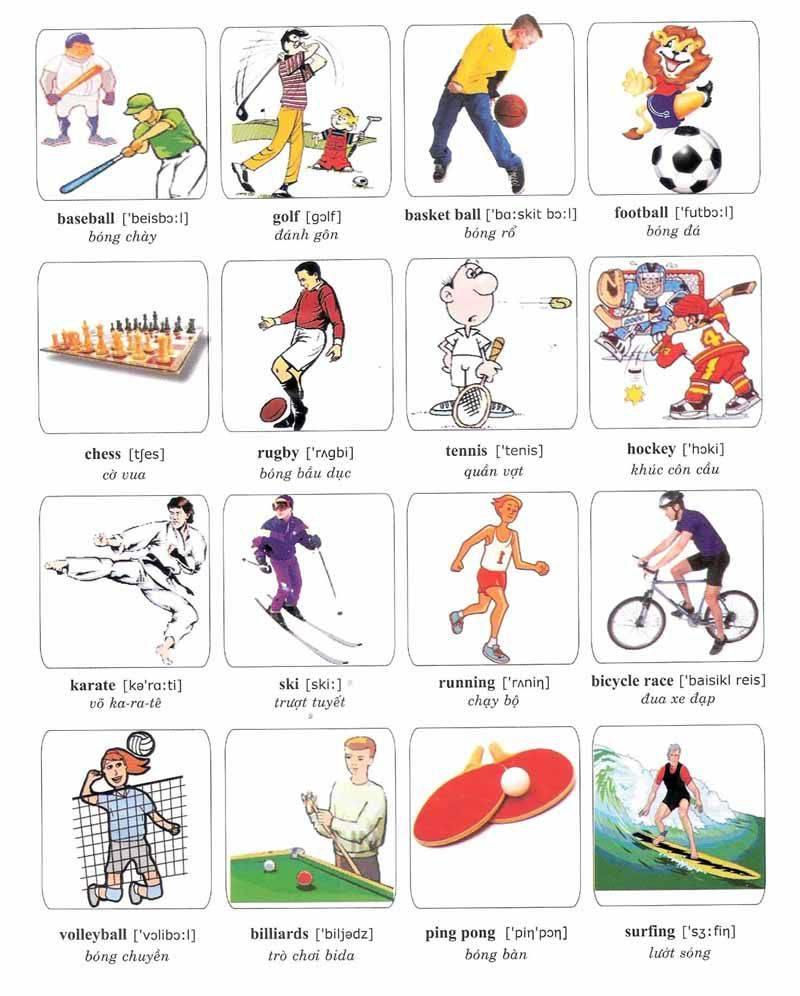 Названия физических упражнений на английском языке - vocabucy