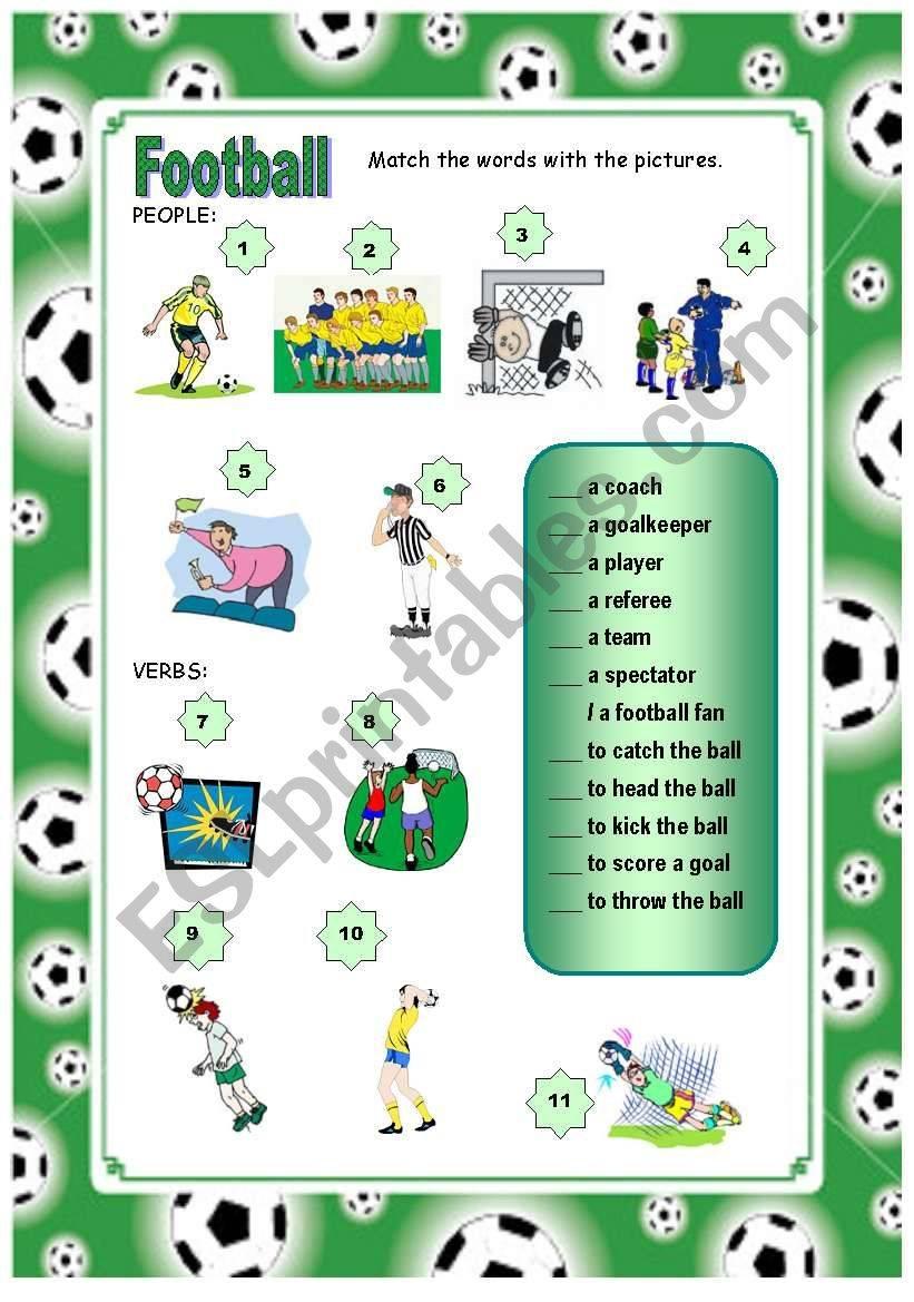 Футбольная лексика на английском языке