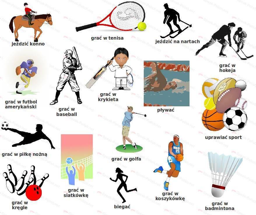 Название видов спорта по-английски