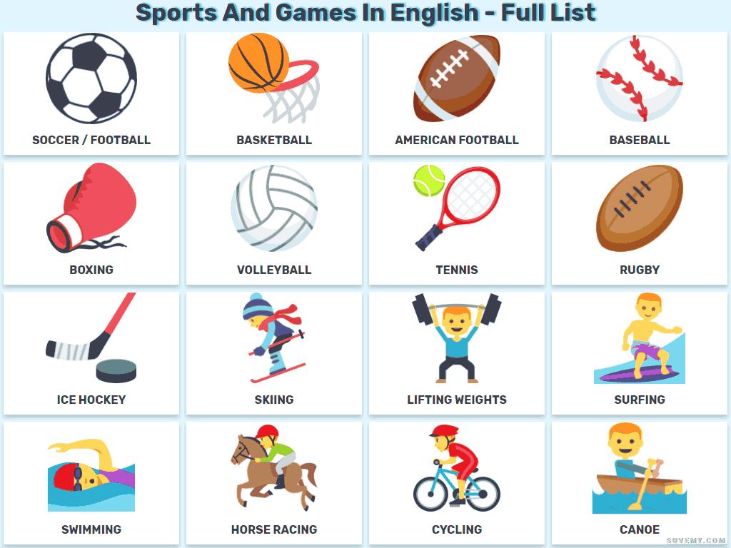Как называются виды спорта на английском языке? – изучение английского языка