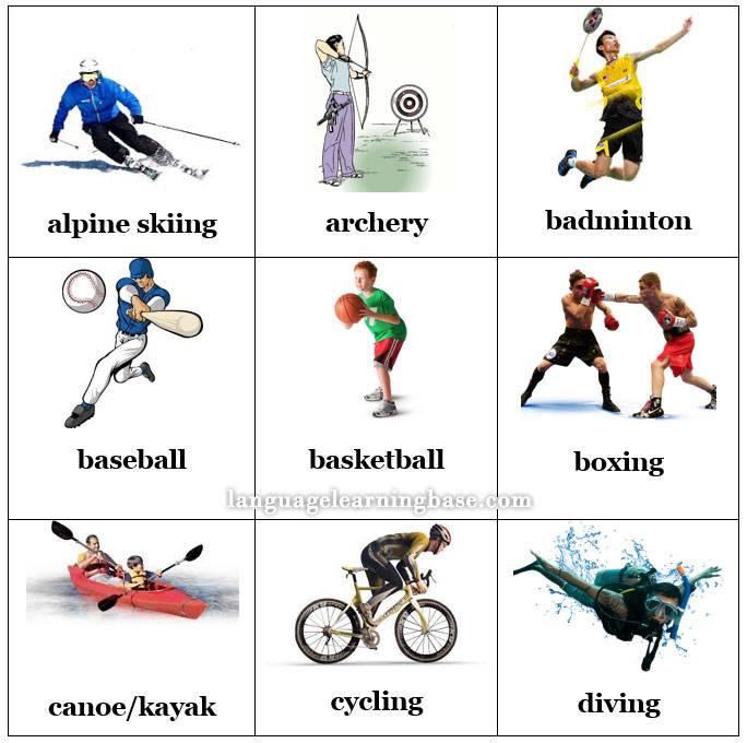 Английский для спортсменов. названия спортивных упражнений на английском