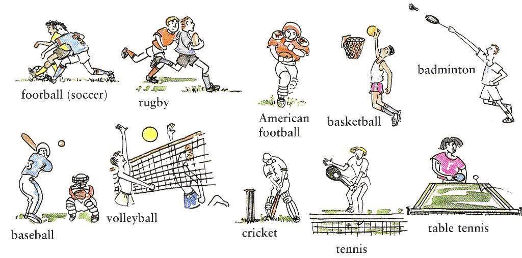 Слова на тему «спорт»